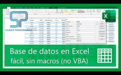 Excel | Erstellen von Datenbanken und Suchdatensätze ohne Excel-Makros. Spanisch Tutorial HD
