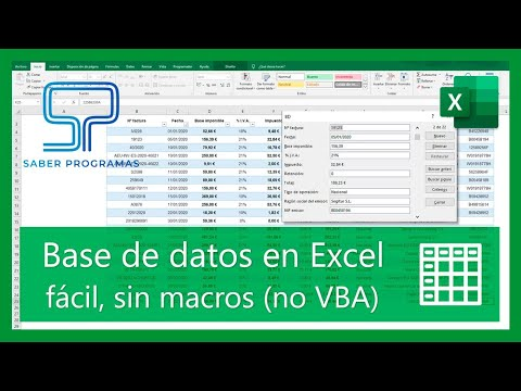 Excel | Create databases and search records without Excel macros. Spanish tutorial HD